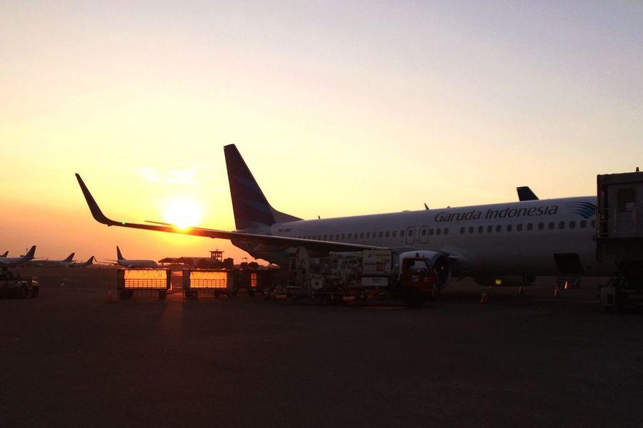 EyeEm Jakarta Jakarta Indonesia Soekarno-hatta International Airport Airplane Sunset
