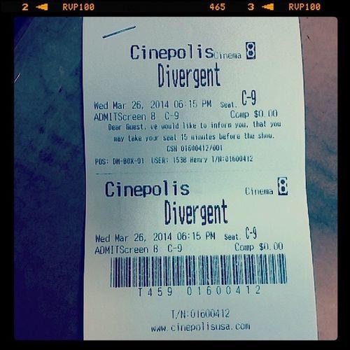 Divergent today @ Cinepolis! Divergent Movietix Cinepolis Wednesdays igotthehookups