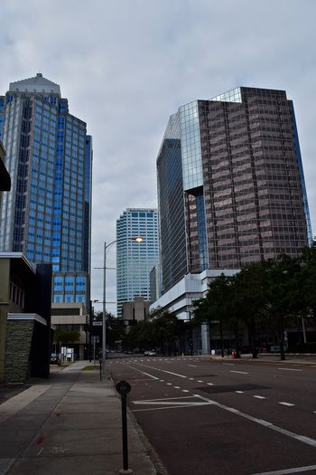 Downtown Tampa, Cloudy Sunday Morning City Cloudy Morning Downtown Tampa Florida My City Sky And Clouds Skyscrapers Tampa Embrace Urban Life The City Light The Street Photographer The Street Photographer - 2017 EyeEm Awards Colour Your Horizn