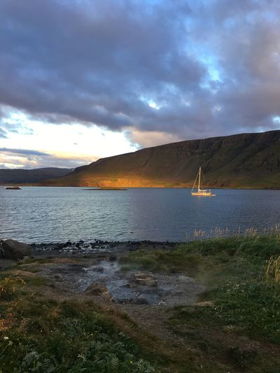 Fjord Sailboat Evening Great Atmosphere View Mountain Iceland216 Iceland_collection Iceland