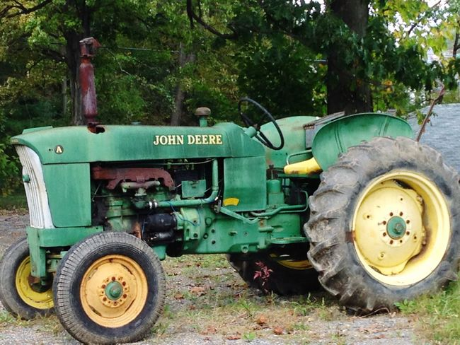 Well Farmed Farming Tire Green Color Tractor Day Land Vehicle No People Outdoors Green Color Transportation Agriculture