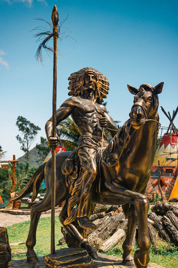 View of a horse statue