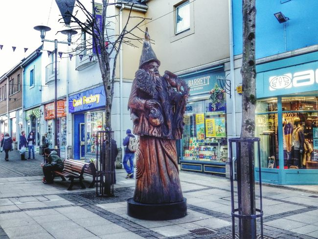 Wales Photography Taking Photos Check This Out Monument Sculpture Public Art Art Wood Wood Carving MERLIN Merlin The Wizard Wizard