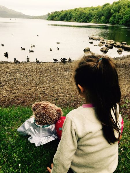 Nature On Your Doorstep PJ trip to show teddy playgroup the swans before bedtime