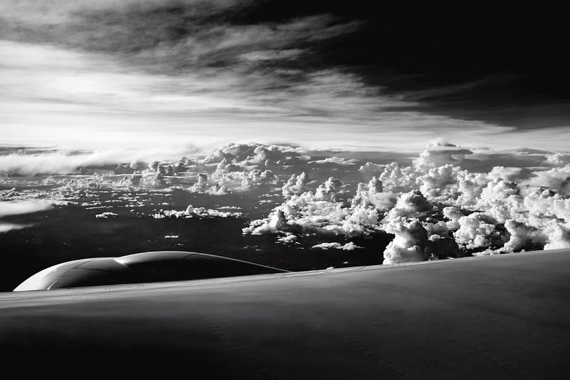 From the window seat Sky Back And White B&w Cloud - Sky Nature Scenics Beauty In Nature Outdoors Day No People Architecture Plane Clouds And Sky Window Plane Seat