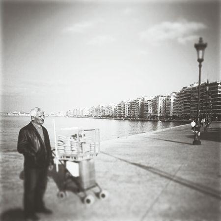 Urban Landscape Eye For Photography Blackandwhite Photography Streetphoto_bw Street Thessaloniki Coastline Street Life