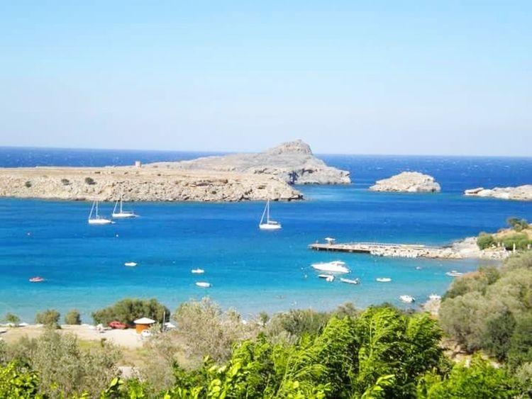 Rhodes Greece Wonderful Place Rhodos, Greece  Beautiful Sea Blue Sky Blue Sea Missing Summer