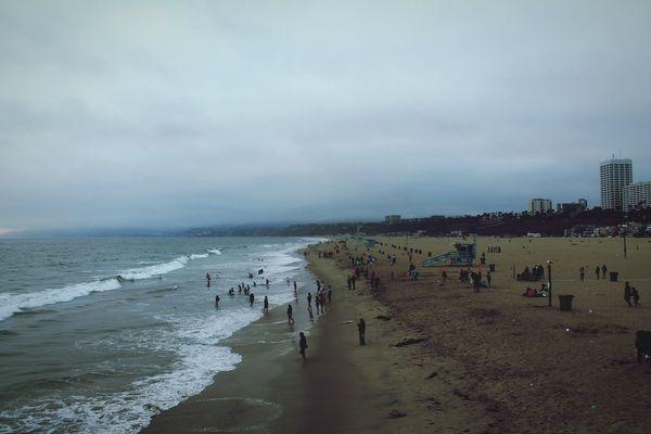 Oceanography Travel Photography Beach Sand Sea Water Wave Summer Santa Monica Shoreline Live For The Story Place Of Heart Calovefornia California City Life Beach Life Fun The Great Outdoors - 2017 EyeEm Awards #urbanana: The Urban Playground