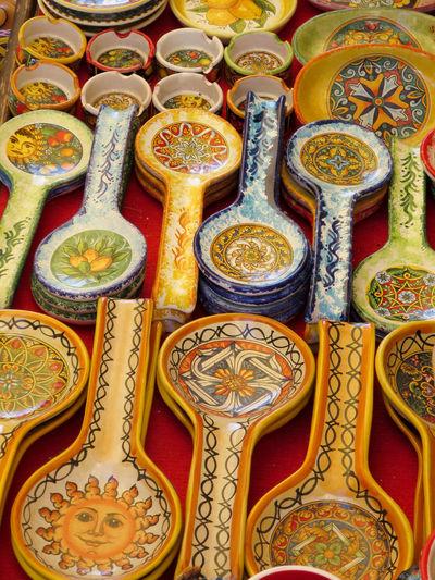 Colour Colour Of Life Colourful Colours Erice Gift Shop Pattern Repetition Sicily Souvenir Souvenirs Trinacria EyeEmNewHere