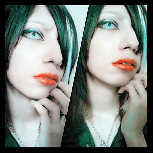 MakeUp inspired by Tsuzuku (Voc. Mejibray),,just wanna try it :3 Tsuzuku MEJIBRAY Makeup Visualkeimakeup cosu practicing visualkeiband vocalist makeupaddict