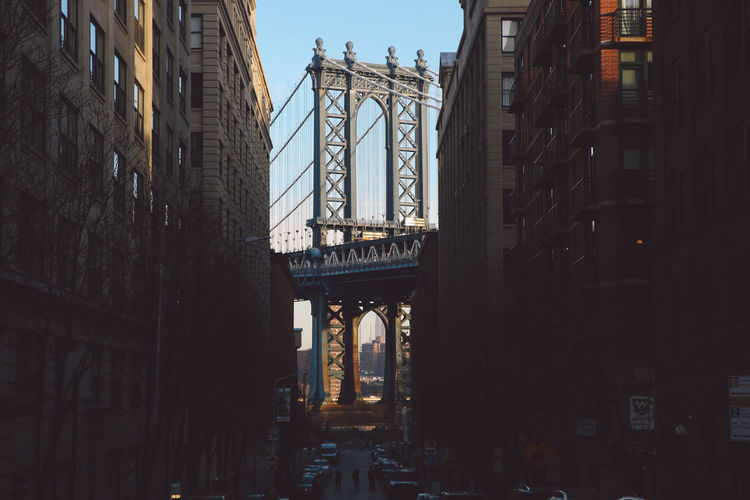Architecture Bridge Built Structure City Day DUMBO, Brooklyn Manhattan Manhattan Bridge New York New York City No People Outdoors Sky Travel Destinations Winter Adventures In The City