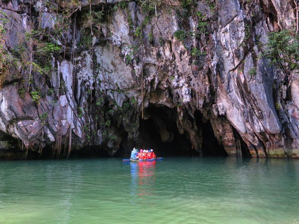 Underground River. Beauty In Nature Adventure Nautical Vessel Mode Of Transport Rock - Object Waterfront Sea Outdoors Nature Eye Em Philippines EyeEm Nature Lover Tranquil Scene Underground River Puerto Princesa City Palawan Philippines