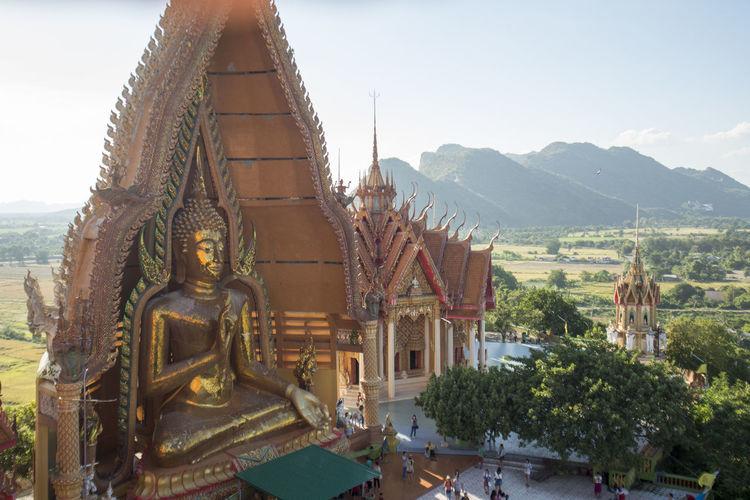 Buddha statue in wat tham sua at kanchanaburi