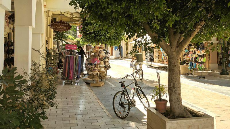 Bicycle Zante Town Zakynthos Town Zakynthos, Greece Greek Islands Zante Zakynthos Tourist Resort Relaxation Vacations Greek Street View Connected By Travel Lost In The Landscape