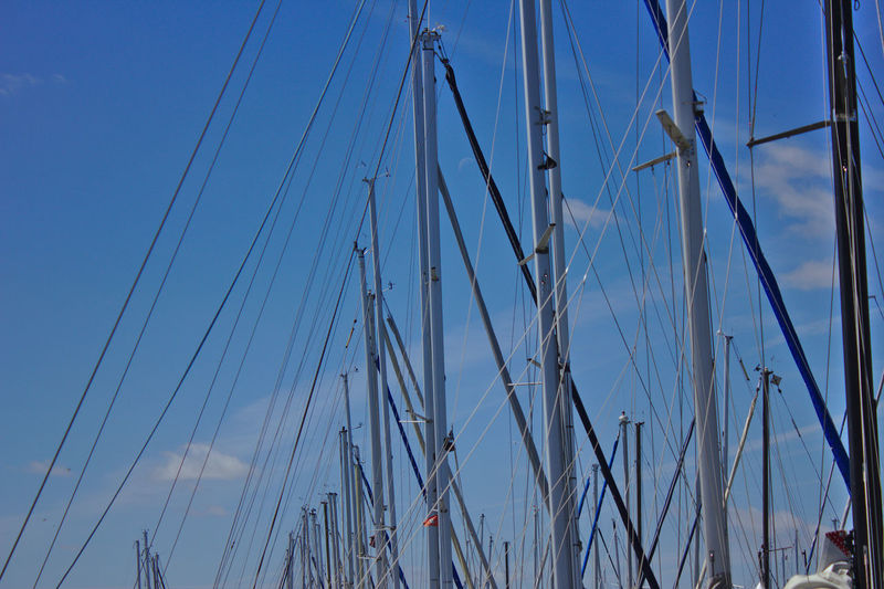 Premium Collection Blue Cloud - Sky Day Harbor Mast Nautical Vessel No People Outdoors Pole Rope Sailboat Ship Sky Yacht