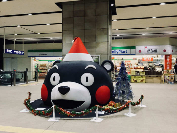 Around The Kyushu ʕ•ᴥ•ʔ KUMAMON 🎅 Kyushu-Shinkansen, concourse kumamoto Station December, 2016. IPod Touch Photography Full Frame 33mm 今年はどんなんかな〜 2016/12/15 九州新幹線 熊本駅 コンコースの くまモン サンタ about KUMAMON >> https://en.wikipedia.org/wiki/Kumamon Mascot Christmas Decoration Concours Japanese Characters Kumamoto Station Most Famous Mascot くまもん くまもとサプライズ サンタ 九州新幹線 🚄 熊本駅