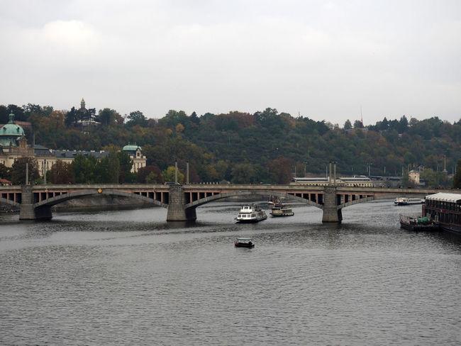 Bridge Bridge - Man Made Structure Canal Catamaran River Vltava Water