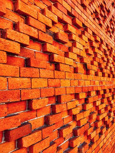 Brick Wall Full Frame Backgrounds Pattern Architecture No People Built Structure Red Building Exterior Outdoors Day Architecture EyeEmNewHere Minimalist Architecture 365project 3 The City Light Construction Buildingstyles Obras Construction Site BYOPaper! BYOPaper! The Architect - 2017 EyeEm Awards Visual Creativity 10