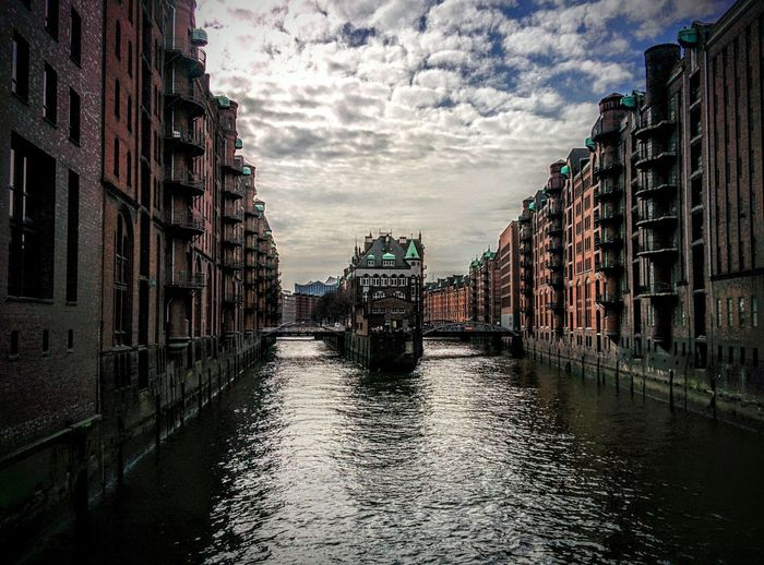 Showcase April Hamburg Germany🇩🇪 Beautiful Architecture Elba Wassershloss Hanging Out German Venice Elbe River Elbe Sun Sky Sky And Clouds