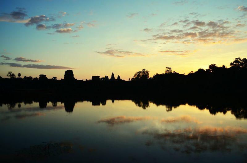 Sunrise over Angkor Angkor Wat Sunrise Early Morning Magical Cambodia Siem Reap