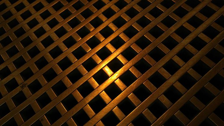 Seamless Pattern Full Frame Close-up Indoors  Metal Floor Plates Shiny Things