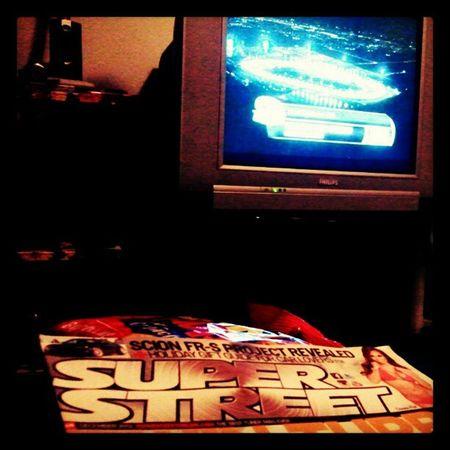 Monday night chillin. SportsCenter Superstreetmag Cornnuts