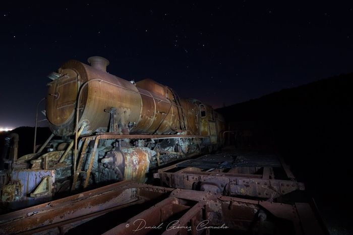 Night Astronomy Star - Space No People Space Factory Nature Sky Galaxy Outdoors Train Riotinto Tren Huelva Andalucía SPAIN España