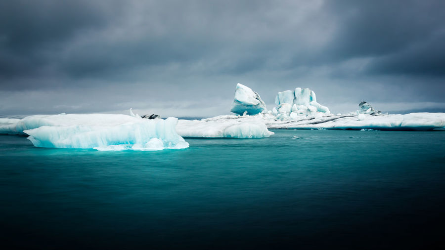 Iceland Beauty In Nature Cold Temperature Day Floating On Water Frozen Glacier Ice Iceberg Iceberg - Ice Formation Idyllic Melting Nature No People Outdoors Rippled Scenics Sea Sky Tranquil Scene Tranquility Water Waterfront Winter
