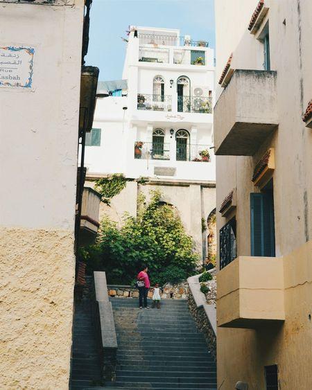 Hillside Narrow Street Morocco Tanger  Stairs Kasbah