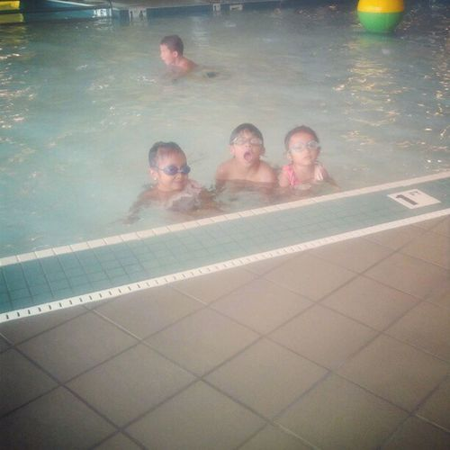 After the Swimminglessons Kids Playing Happy
