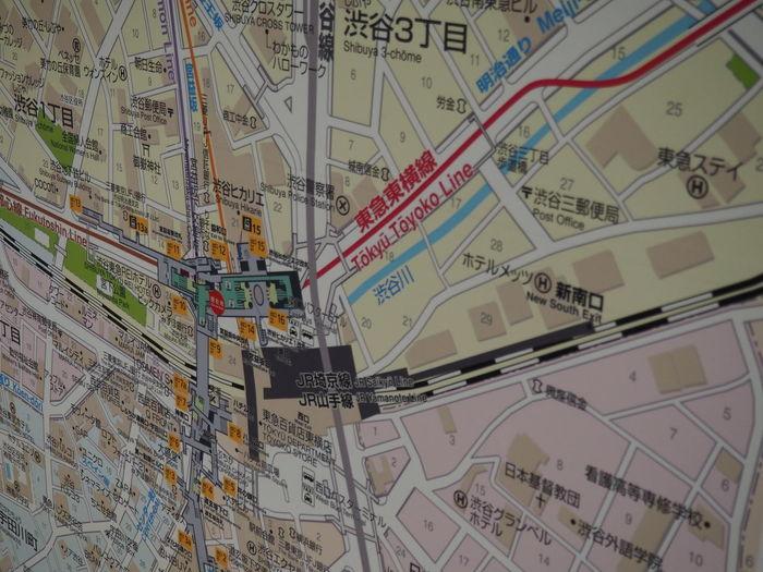 Backgrounds Close-up Day Full Frame Indoors  Map No People Orientation Paper Shibuya Subway Subway Map Tokyo Line Tokyo Subway Transportation