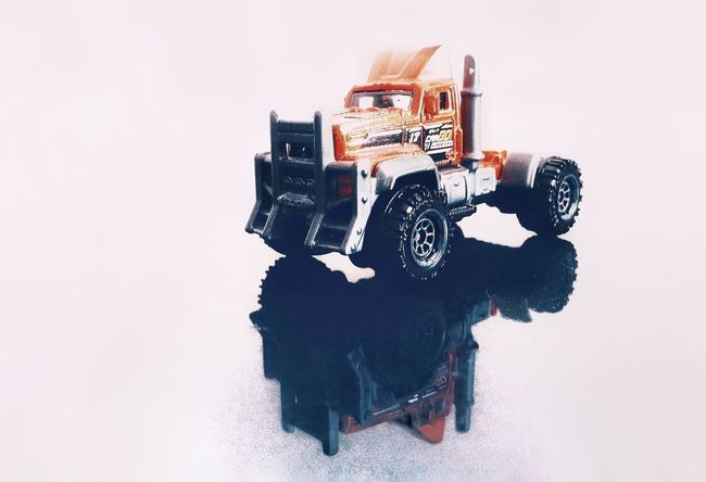Reflection View Wannabe Toy Toyphotography Truck Tractor Rig Reflection Symmetry Shadow White Background Pinwheel Toy EyeEmNewHere The Modern Professional