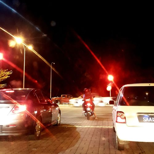 Red Light PhonePhotography Illuminated Car Night City Life Transportation Road Land Vehicle City EyeEm Ready   EyeEmNewHere