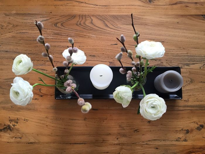 Home Interior Home Is Where The Art Is Home Sweet Home Interior Design Home Decor Candles Look From Above No People Wooden Table From Above Table Flower Arrangement Peony  Peony Flower A Bird's Eye View