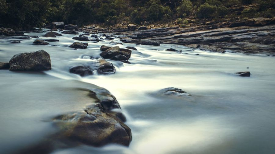 Long Exposure Water Falls Stones 1st Attempt First Eyeem Photo Check This Out Taking Photos Canon 1200D