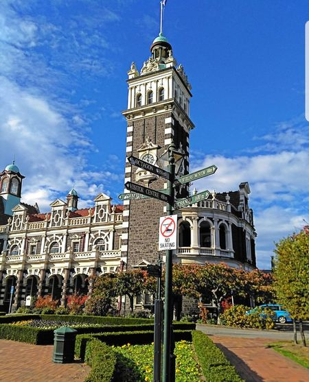 Dunedin Travel Destinations Architecture Clock Tower History Cloud - Sky Sky Outdoors Day Clock Building Exterior No People City Politics And Government Clock Face