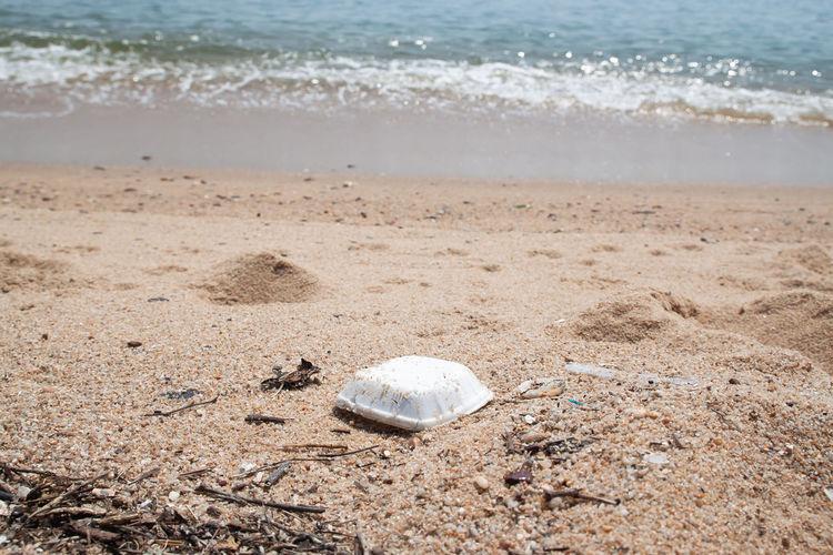 Garbage at sea shore