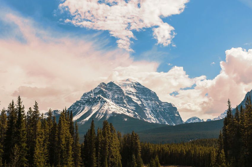 Cloud EyeEm Best Shots EyeEm Nature Lover Backgrounds Beauty In Nature Canada Cloud - Sky Day Icefield Parkway Landscape Mountain Mountain Range Mountains Nature No People Outdoors Range Rockies Scenics Sky Snow Tranquil Scene Tranquility Tree