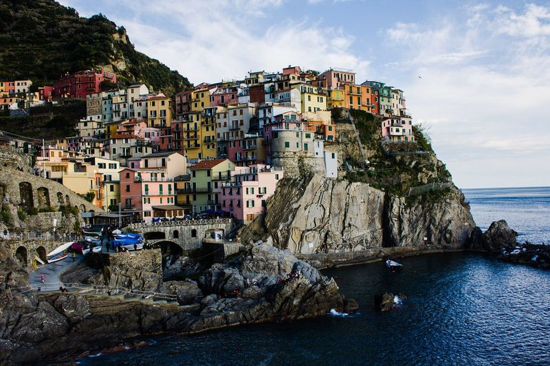 Cinque terre. Sea Beach City Outdoors Vacations No People Cityscape Day Sky Travelphotography Harbor Old Buildings Travel Destinations Summer Exploratorium