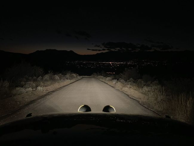 just like that. it's dark commute season again. 🏔🦌 Wasatch County Wasatch Back Wasatch Mountains Utah Road Sky Transportation Nature Motor Vehicle Car Land Vehicle