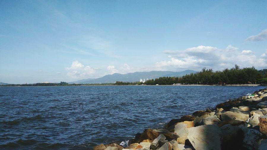 Likas Bay, Kota Kinabalu Mobile Photography Redmi Note 3 Sky Nature Landscape Beach Outdoors Beauty In Nature Water Sea Scenery EyeEmNewHere Likas Kota Kinabalu Sabah Borneo Betterlandscapes
