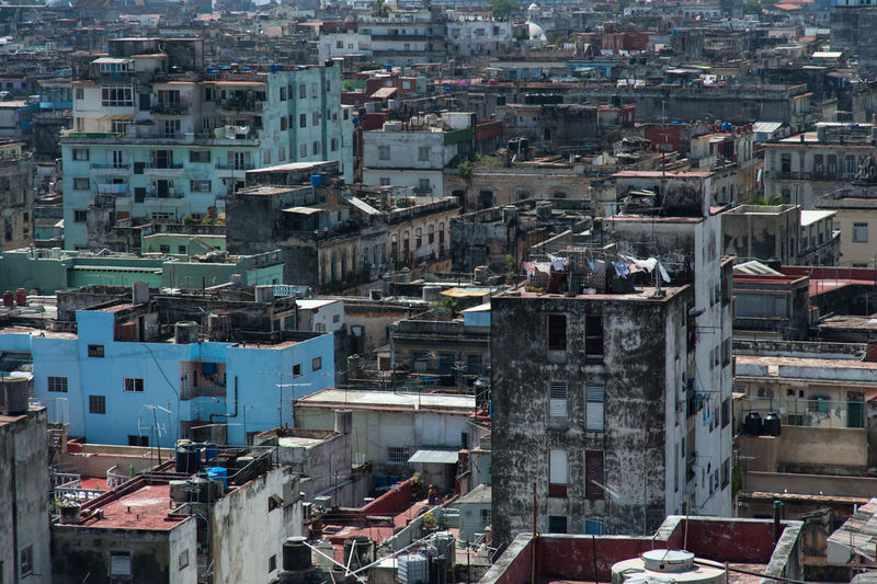 Cuba Habana Havana, Cuba Revolution Skyline Architecture Building Building Exterior Built Structure Caribbean City Cityscape Community Crowd Crowded High Angle View History House Old Buildings Oldcity Outdoors Residential District TOWNSCAPE