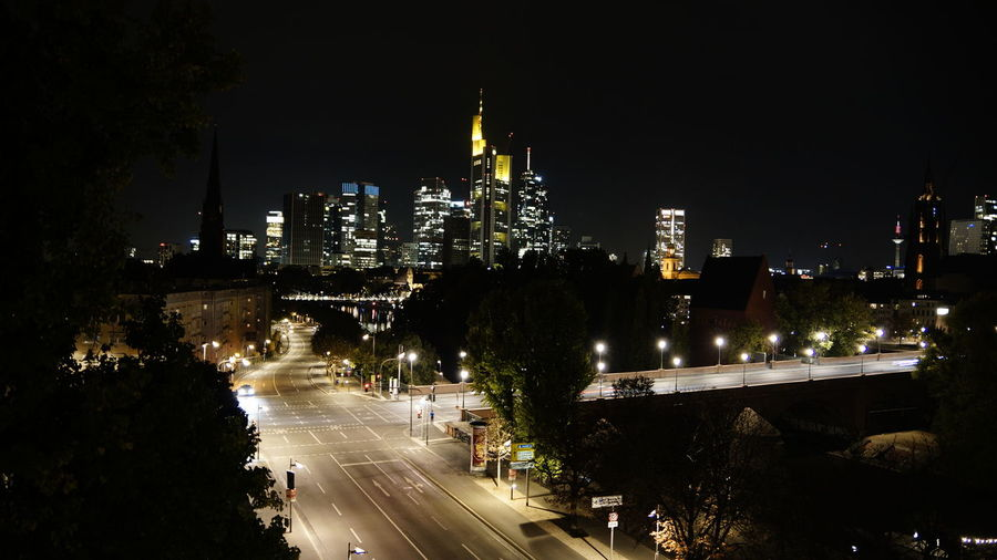 Night Illuminated City Building Exterior Architecture Built Structure Transportation Road Sky Building Cityscape No People Nature Street Office Building Exterior High Angle View Skyscraper Motion City Life Tall - High Outdoors Modern Urlaub Bristol Frankfurt Am Main