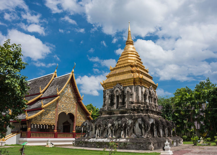 Belief Buddha Buildings Faith Antiques Architecture Architecture ASIA Building Exterior Built Structure Clouds Day History No People Outdoors Place Of Worship Religion Religion Architecture Sky Spirituality Thailand