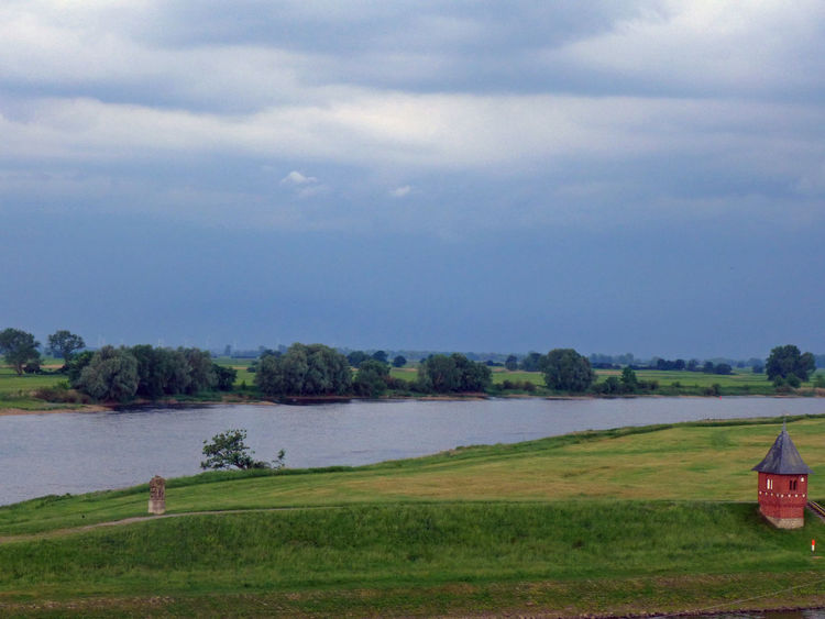 Agriculture Beauty In Nature Cloud - Sky Elbe Elbe River Elberadweg Grass Growth Landscape Nature River River View Scenics Sky Storm Cloud Tangermünde Tranquility Tree Water