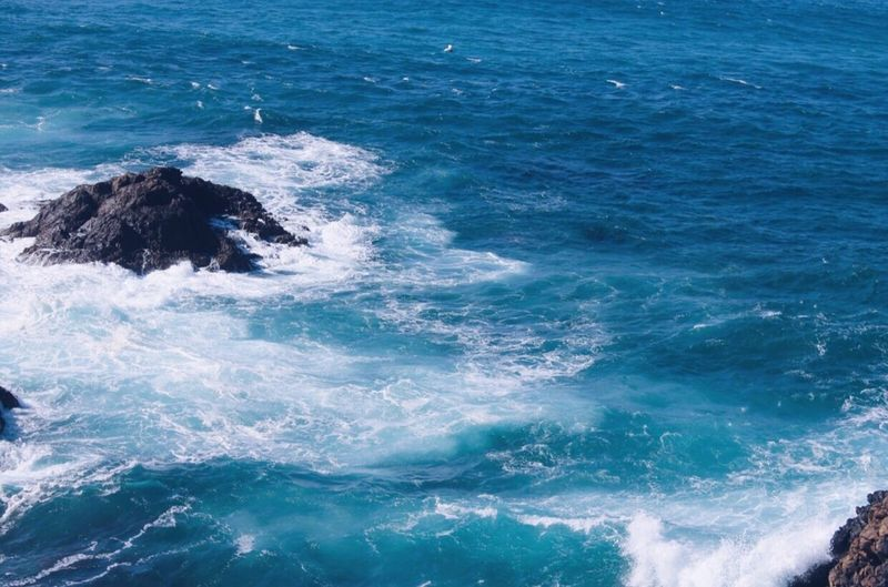 Sea Beauty In Nature Water Blue Nature Wave Scenics No People Motion Outdoors Day Rocks Rocks And Water Blue Sea Blue Water Photography Gran Canaria Canary Islands Canon1100d Canon