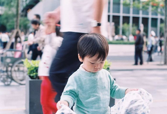 I catch a cutie. Childhood Baby Film135 Babyhood Life Filmneverdies Film Photography Film Shot Leisure Activity Outdoors Cute Boy Child EyeEmNewHere The Street Photographer - 2018 EyeEm Awards
