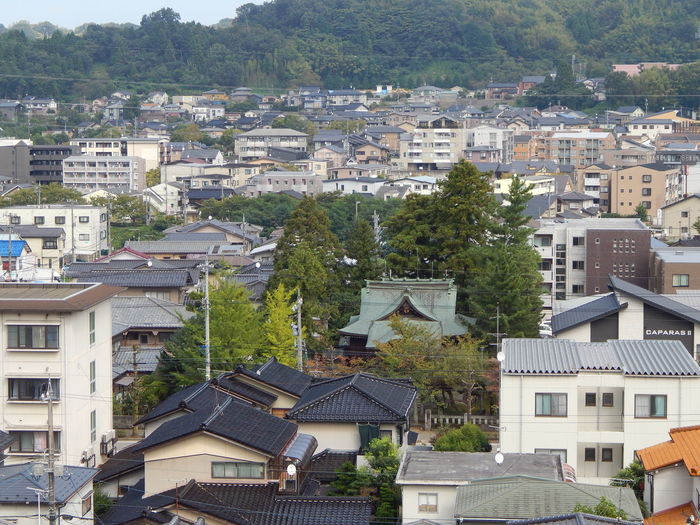 Kanazawa Tagami Architecture Built Structure Building Exterior Residential Structure Tree Residential Building High Angle View City Residential District House Town Day Outdoors Green Color