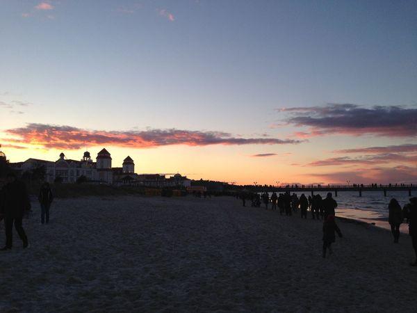 Kurhaus im Sonnenuntergang Ostseebad Binz Sunset Beach Baltic Sea Holiday Insel Rügen Good Evening Colourful Clouds Colourfulsky Popular Photos