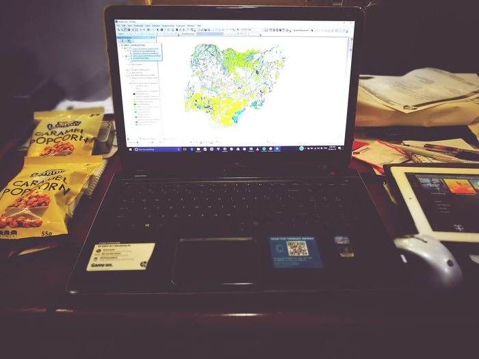 Workmode Computer Monitor Technology ArcGIS Popcorn <3 Laptop Spotify♪♡ Itsonow